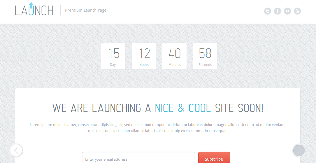 Launch Landing Page