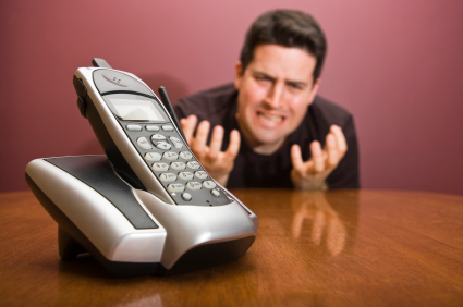 Man pleads for the phone to ring